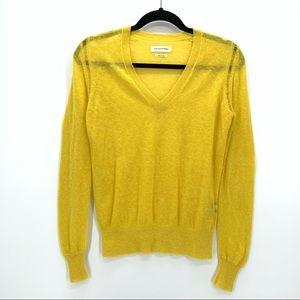 Isabel Marant Etoile US 4 Yellow V Neck Sweater LS